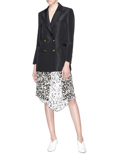 Blazé Milano 'Shamrock' silk faille everyday blazer