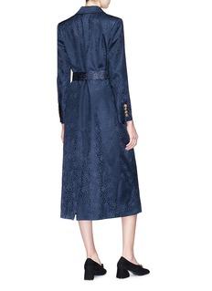 Blazé Milano 'Tuiga' belted cheetah print silk jacquard blazer dress
