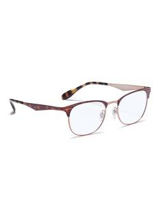 Ray-Ban 'RB6346' tortoiseshell metal square optical glasses
