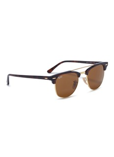 Ray-Ban 'Clubmaster' metal rim acetate square sunglasses