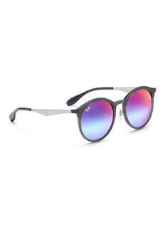 Ray-Ban 'Emma' acetate round mirror sunglasses