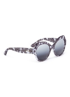 Dolce & Gabbana Lace inlay acetate cat eye sunglasses