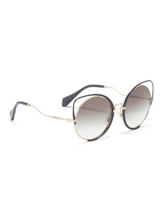 miu miu Colourblock cutout metal cat eye sunglasses