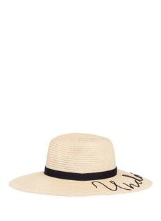 Eugenia Kim 'Emmanuelle' slogan straw sun hat
