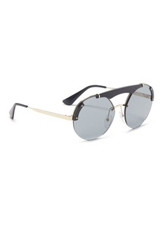 Prada Acetate top bar metal round sunglasses