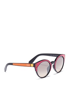 Prada Colourblock acetate round sunglasses