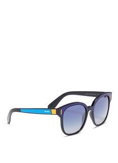 Prada Colourblock acetate square sunglasses