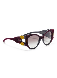 Prada Velvet panel acetate cat eye sunglasses