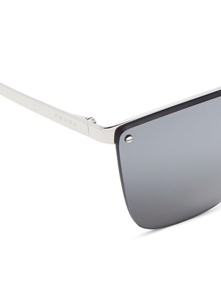 Detail View - Click To Enlarge - Prada - Mounted lens angular cat eye sunglasses