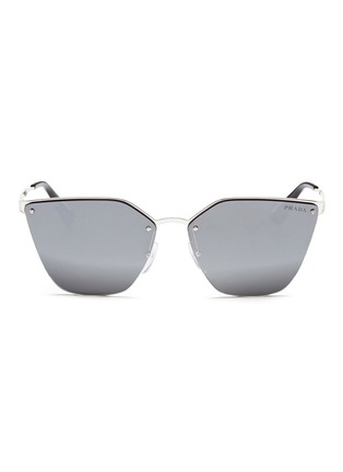Main View - Click To Enlarge - Prada - Mounted lens angular cat eye sunglasses