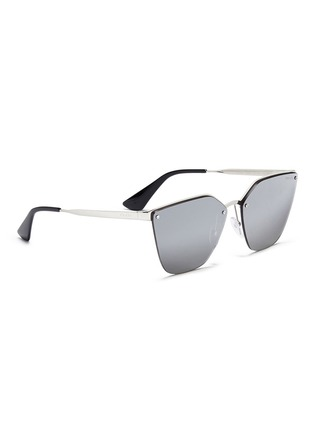 Figure View - Click To Enlarge - Prada - Mounted lens angular cat eye sunglasses