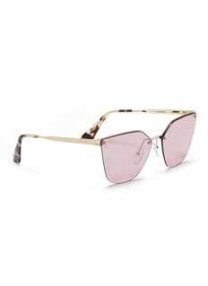 Prada Mount floral lens metal angular cat eye sunglasses