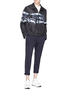 Neil Barrett 'Water' print harrington jacket