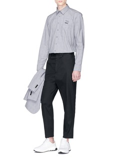 Neil Barrett Buckle strap check plaid shirt