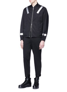 Neil Barrett Reflective stripe twill bomber jacket