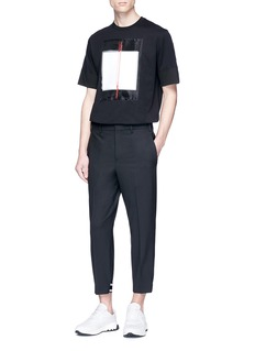 Neil Barrett Geometric appliqué T-shirt