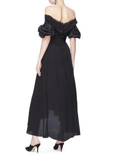 Johanna Ortiz 'Maria Felix' cutout twist front off-shoulder dress
