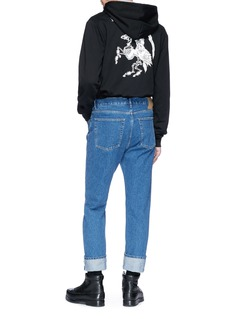 McQ Alexander McQueen 'Fear Nothing' graphic print zip hoodie