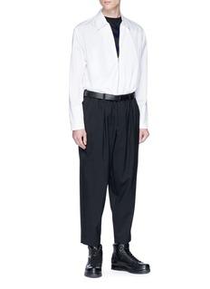 McQ Alexander McQueen 'Swallow Swam' velvet flock print T-shirt