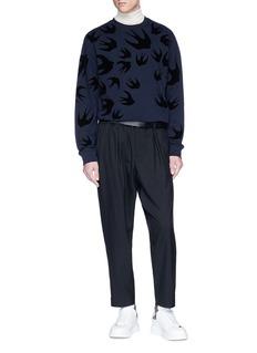 McQ Alexander McQueen 'Swallow Swarm' velvet flock print sweatshirt