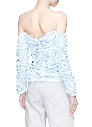 Back View - Click To Enlarge - Georgia Alice - 'Girlsss' ruched off-shoulder poplin top