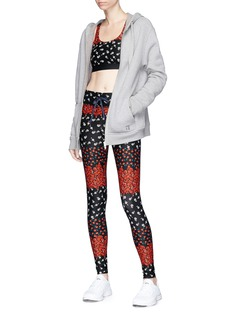 The Upside Floral print performance leggings
