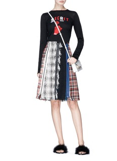 Sonia Rykiel Zip colourblock tweed patchwork skirt
