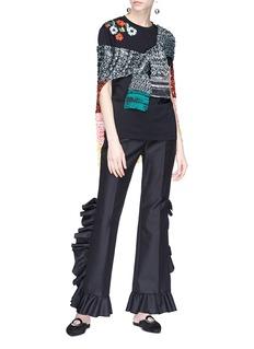 Sonia Rykiel Colourblock crochet knit cape