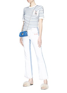 Sonia Rykiel Colourblock flared jeans