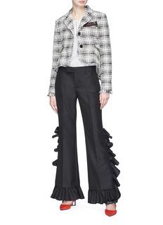 Sonia Rykiel Flared tweed high-low jacket