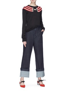 Sonia Rykiel Star stripe intarsia silk-cotton sweater
