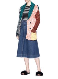 Sonia Rykiel Colourblock crochet knit cardigan