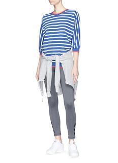 THE UPSIDE Venado拼色条纹七分袖纯棉针织衫