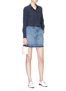J Brand Denim A-line mini skirt