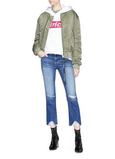 J Brand 'Selena' frayed cuff cropped jeans
