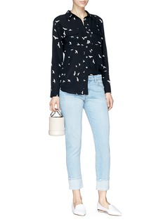 J Brand 'Sadey' let-out cuff cropped jeans