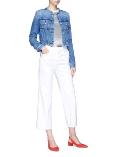 J Brand 'Joan' cropped wide leg denim pants
