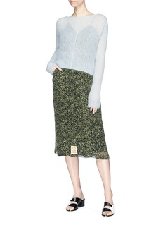 Aalto Asymmetric sweetheart neckline silk camisole dress