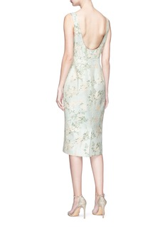 Sabyasachi Floral jacquard silk bodycon dress