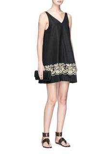 Sabyasachi Floral embellished silk swing dress