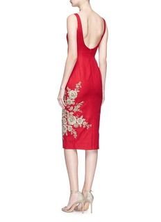 Sabyasachi Floral embellished silk bodycon dress