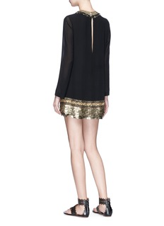 Sabyasachi Embellished hem silk georgette dress