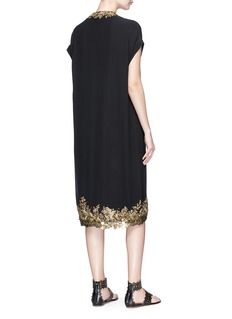 Sabyasachi Floral embellished silk georgette dress