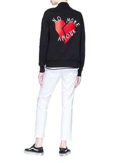 Etre Cecile  'No More Amour' broken heart patch bomber jacket