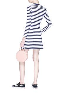 Etre Cecile  'No More Amour' broken heart appliqué stripe mini dress