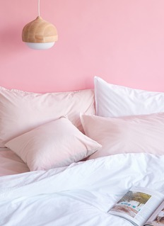 LANE CRAWFORD 有机棉枕套两件套-粉色