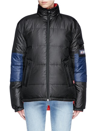 Main View - Click To Enlarge - Opening Ceremony - Colourblock reversible down puffer jacket