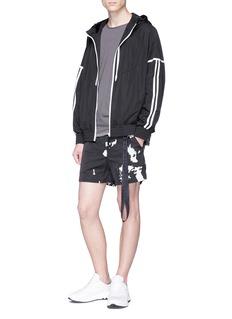 BLACKBARRETT Reflective camouflage print shorts