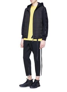 BLACKBARRETT Tape stripe cotton-modal T-shirt