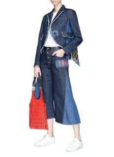 Sonia Rykiel Mix patch contrast panel denim jacket
